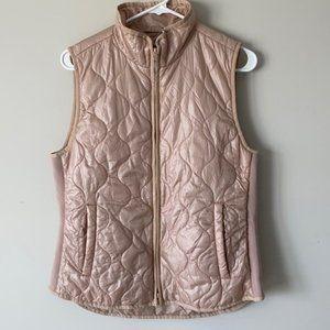 J Crew Rose Blush Pink Lightweight Vest Size Med